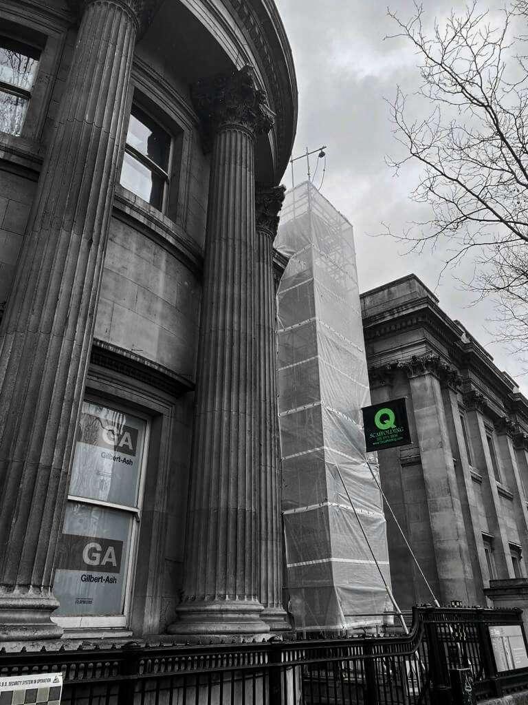 Commercial scaffolding in London