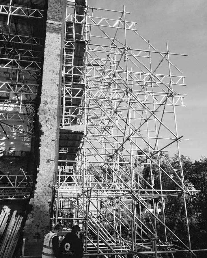 Demolition scaffolding in London
