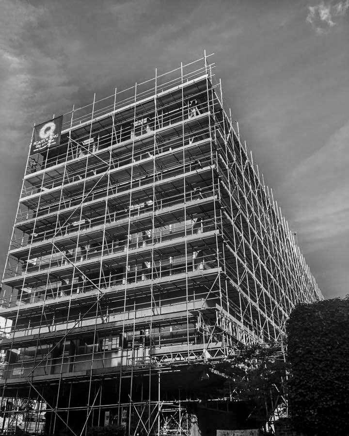 Renovation scaffolding in London