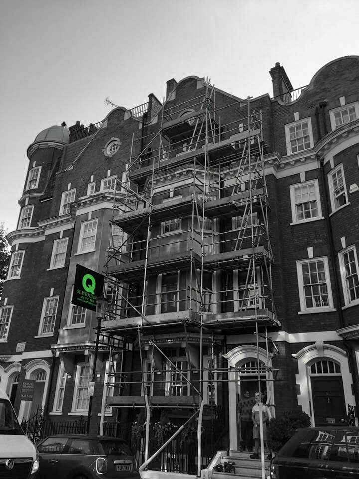 Residential scaffolding in London